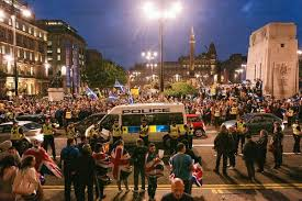 Police have arrested numerous people following a Loyalist invasion of George Square last September 19