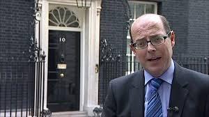 BBC ex political editor Nick Robinson in his happy place