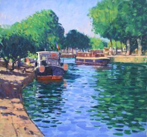 Canal du Midi, oil on canvas, 81 x 86 cms for web