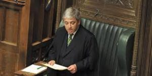 "Speaker Bercow: He'll decide whether legislation is ""English"" or not."