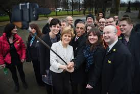 Nicola Sturgeon and the SNP '56': facing a backlash from familiar opponents, post election