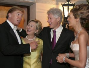 The Rodham-Clinton-Trumpingtons in happier days