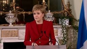 Sturgeon at Bute House on the morning of the Brexit result