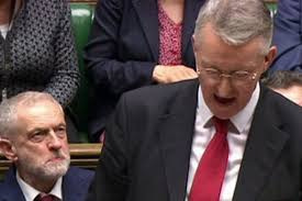 Hilary Benn getting an admiring glance from his leader