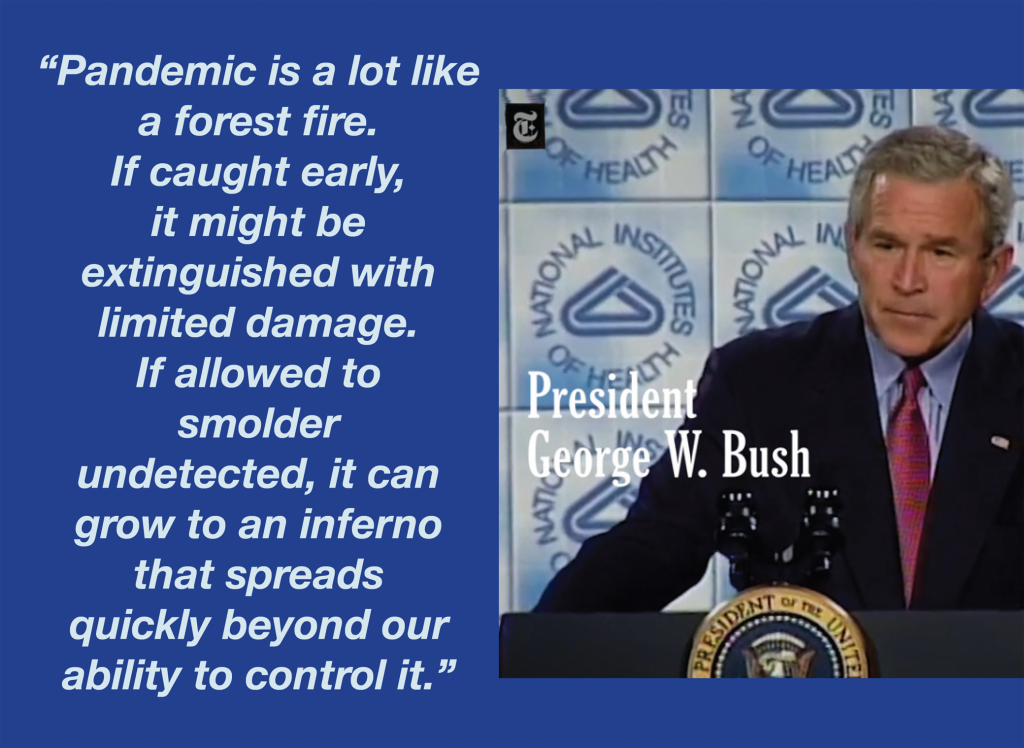 George W Bush on Pandemics 2005