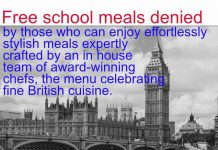 Free school meals denied