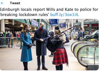 Royal break Scotland's Helth rules