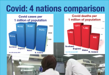 4 nations Covid comparison