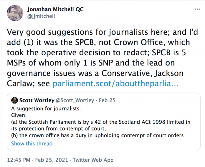 Jonathan Mitchell QC suggestions for journalists