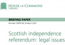 Scottish Independence Referendum H of C Briefing paper