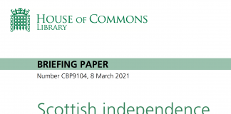 Scottish Independence Referendum H of C Briefing paper