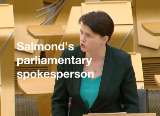 Tory turns Salmond's spokesperson