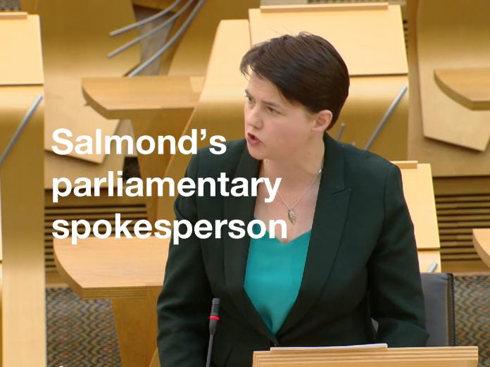 Tory turns Salmond's spokesperson
