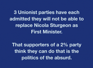 Straw gasping by 2% party